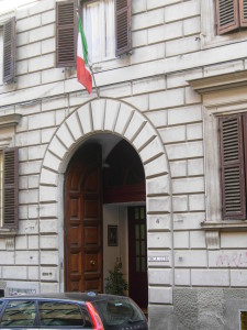 The YWCA hostel I stayed at in Rome