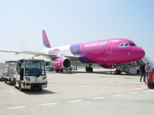 The pink plane that took me to Prague from Venice