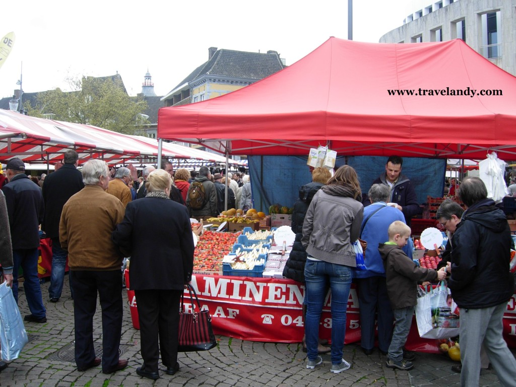The Friday market in Maastricht, the Netherlands