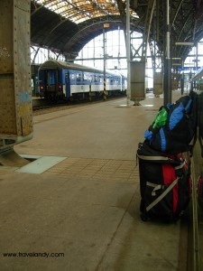 My bags at Praggue railway station