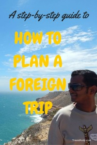 How to plan a foreign trip PIN