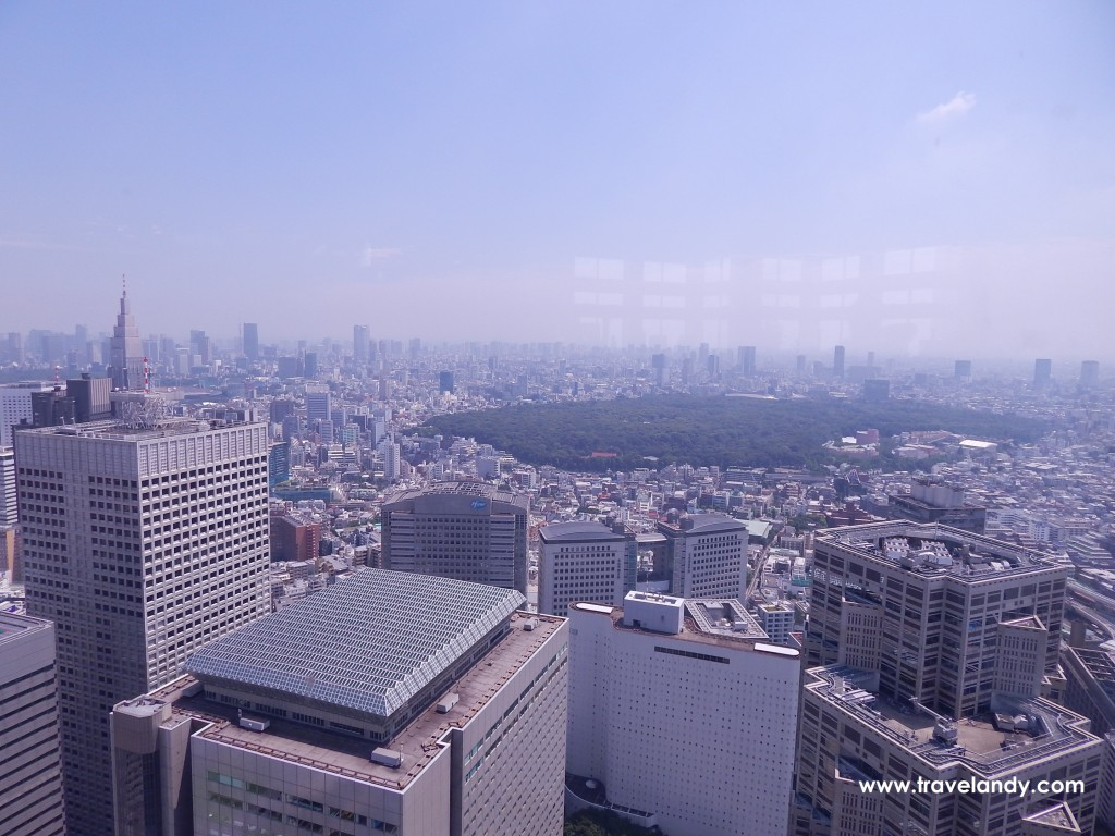 Tokyo skyline from the 45th floor Tokyo Metropolitan Building South tower observatory