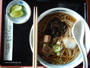 Soba for lunch