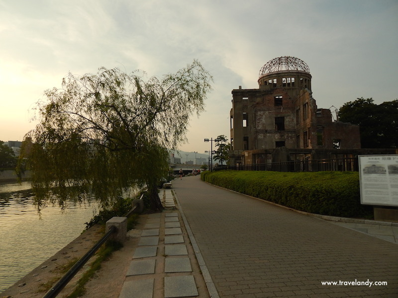 Grim reminder: Atomic Bomb Dome in Hiroshima. They maintain this just like it looked after the bombing
