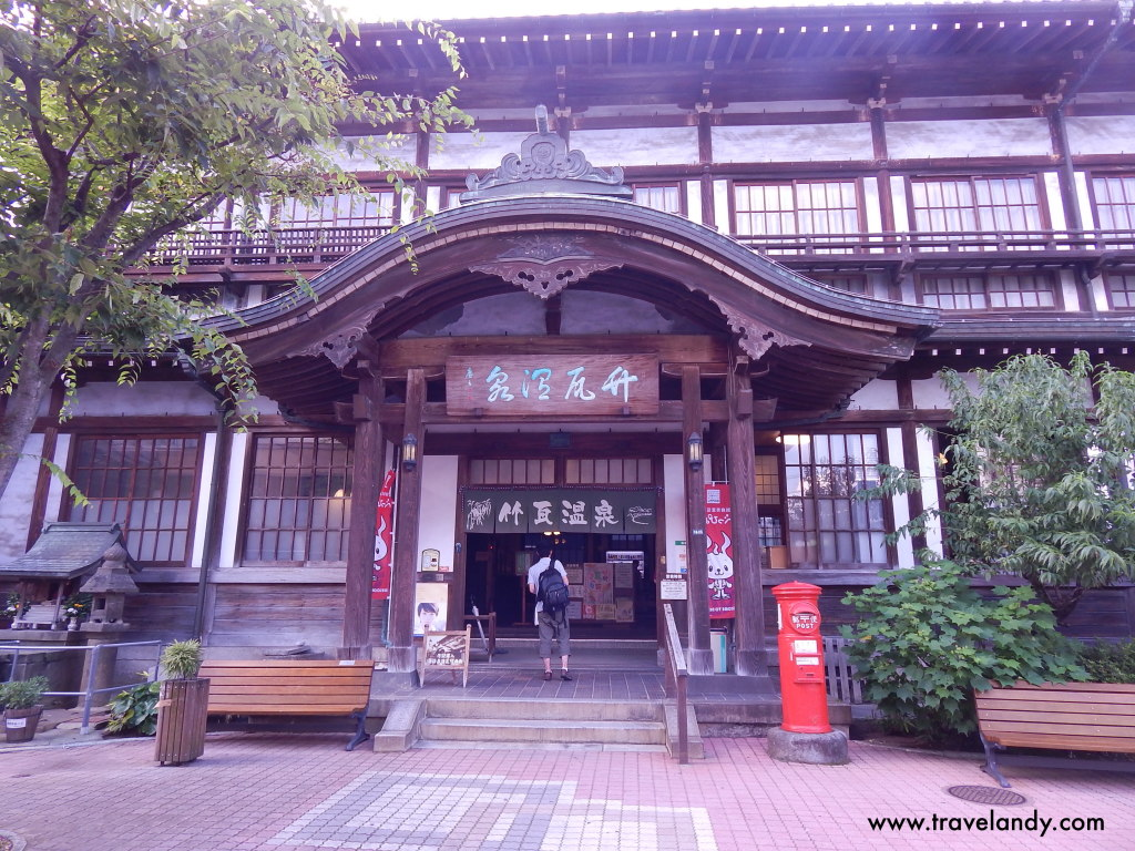 The old building of Takegawara onsen at Beppu