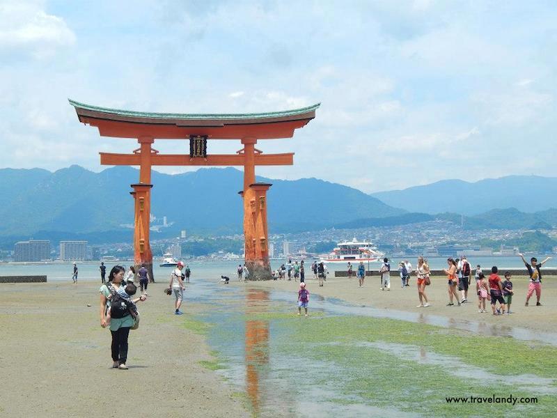 The beautiful torii (gate) at Miyajima, a Unesco World Heritage Site