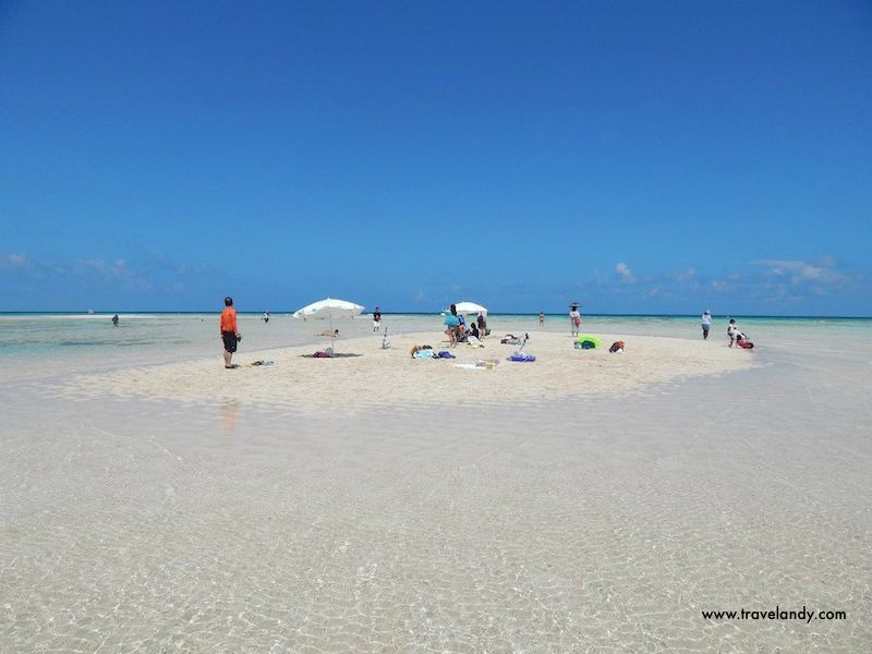 Yurigahama: The disappearing stretch of white sand off Yoron island. It only surfaces during low tide