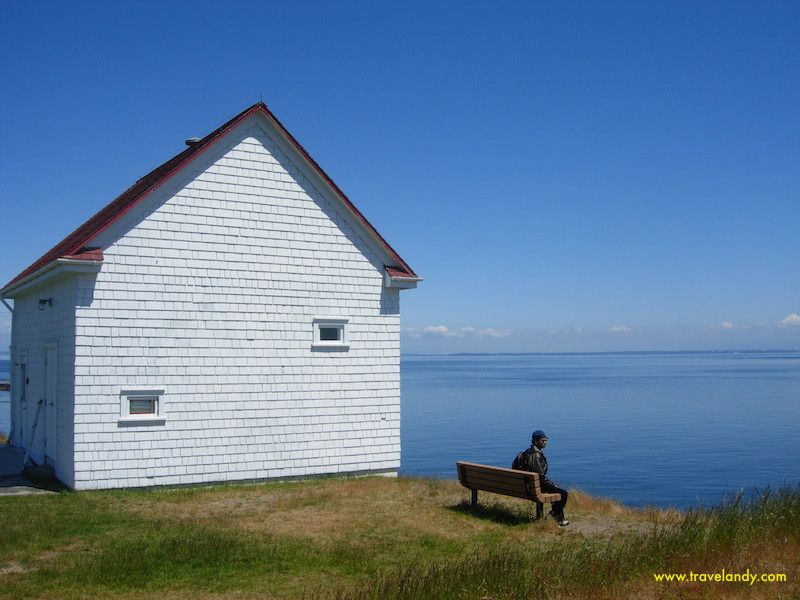 Fog House at East Point. Whales frequent these waters