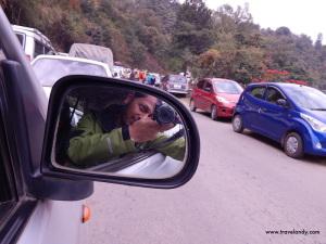 Traffic jam near Kohima