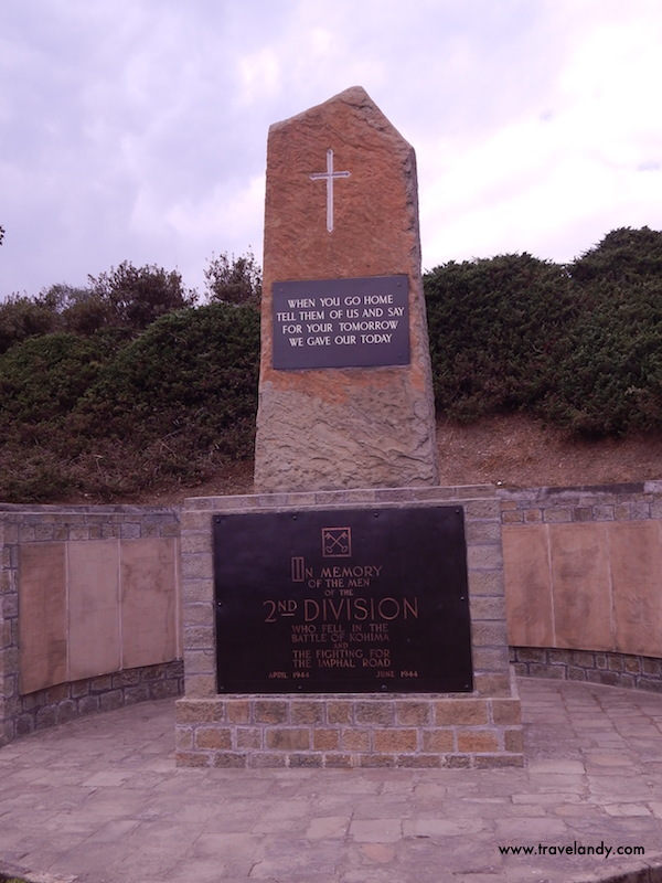 The famous Kohima Epitaph at the war cemetery