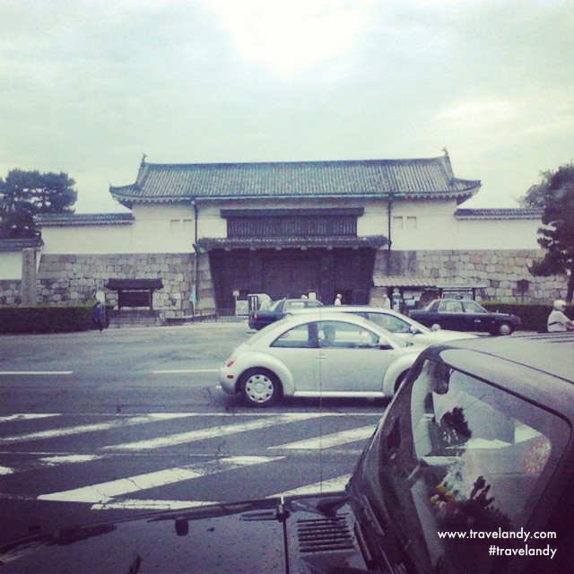 Nijojo Castle in Kyoto from my bus on the way to Gion