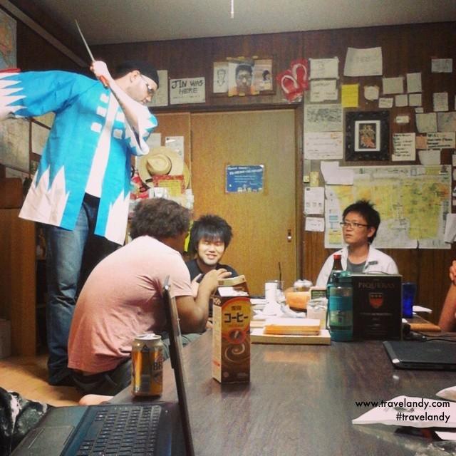 The lively bunch at my Osaka hostel