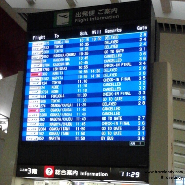 My flight from Naha to Kansai International Airport was cancelled. Thankfully, they were able to accommodate me in a flight later in the day
