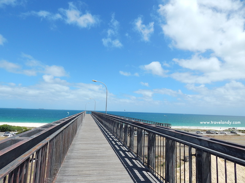 Overbridge to Mosman beach in North Fremantle