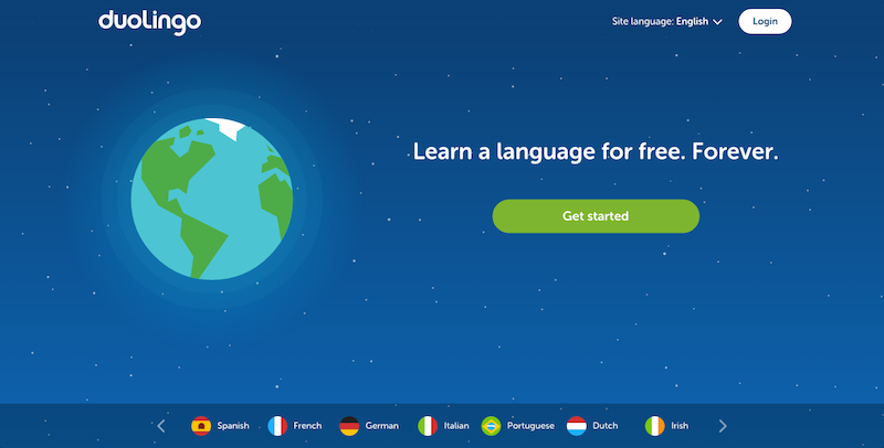 Duolingo on the computer