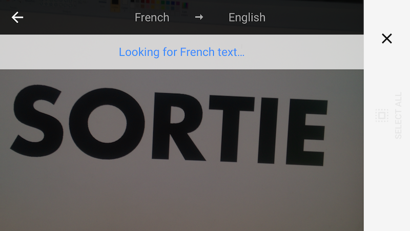 Google Translate helps with French 1