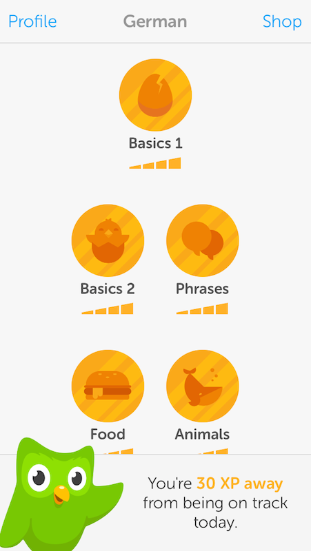 German lessons with Duolingo