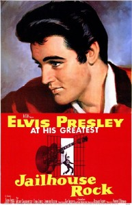A poster of the Presley-starrer Jailhouse Rock