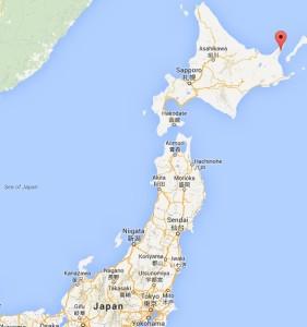 Rausu on Hokkaido island of Japan