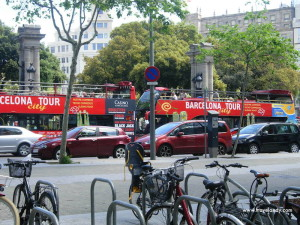 Tourist buses in Barcelona