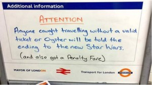 The message spotted at Canonbury station, London/Twitter