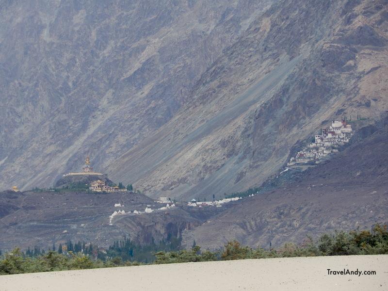Diskit monastery from Hunder desert
