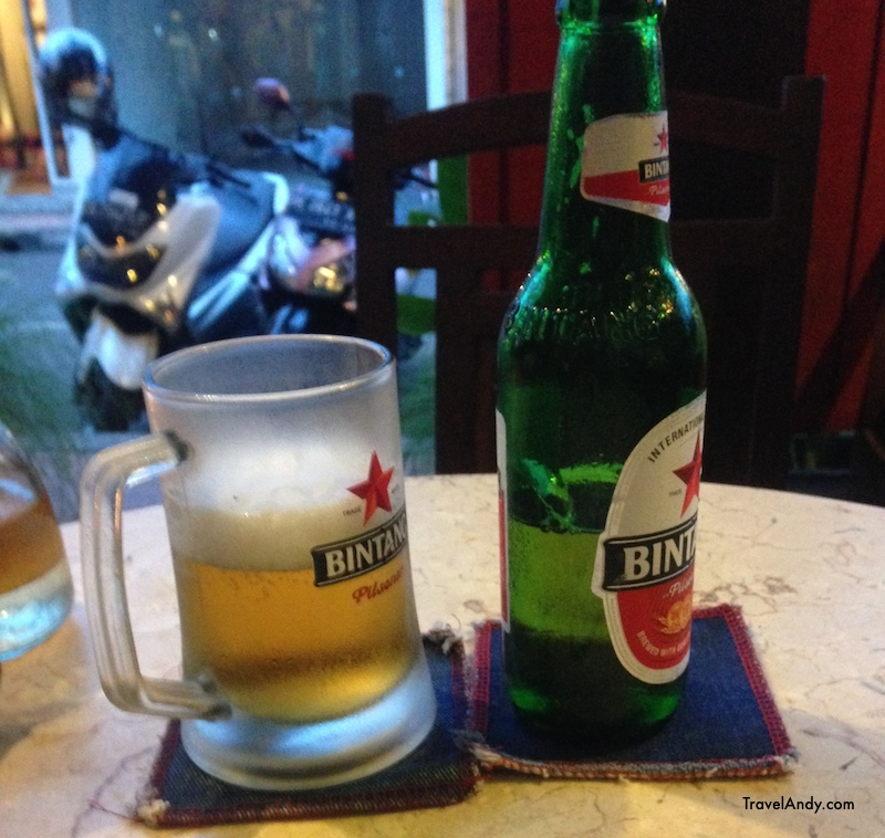 Bintang is the most popular beer in Bali. A 650ml bottle usually costs upwards of IDR35,000 at restaurants
