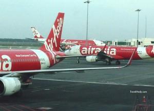 Aircraft at Klia2, AirAsia's hub in Kuala Lumpur