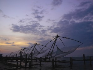 Chinese fishing nets at Fort Kochi. Picture by keralatourism.org