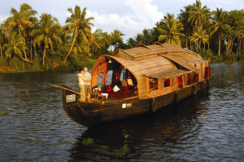 A houseboat in the famed backwaters of Kerala Picture by keralatourism.org