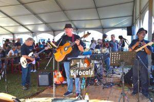 A live music performance during a vintage car show at Pietermaritzburg